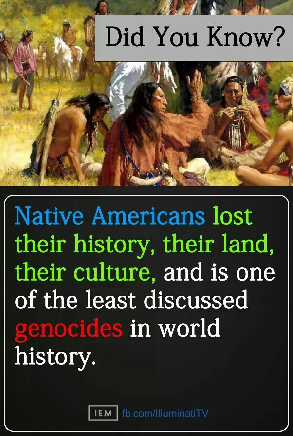 Native Americans-The least mentioned but, the most unforgettable!