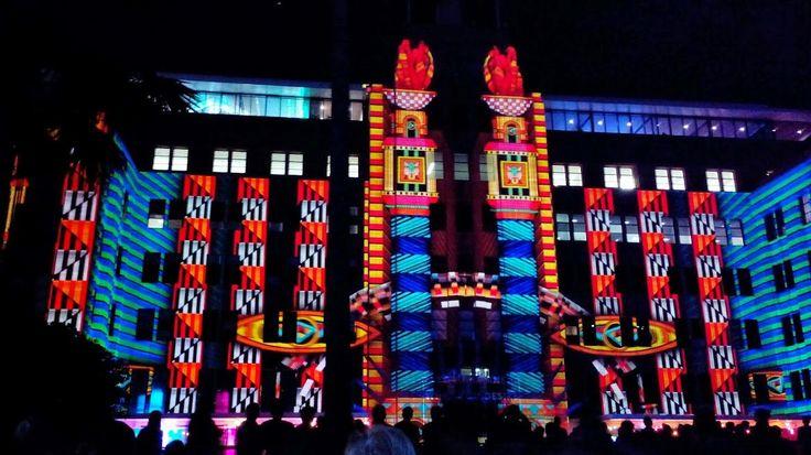 Beautiful lights over MCA Building