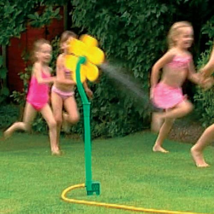 crazy daisy.. the scariest and best sprinkler around.