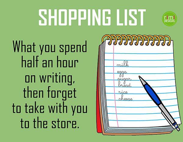 Shopping list | Rimidesigns