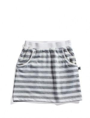 Buy Minti Street Skirt Grey/White