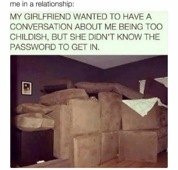 Pillow fort #boyfriend #childish #lol