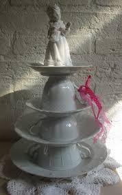 Afbeeldingsresultaat voor etagere maken servies en glas