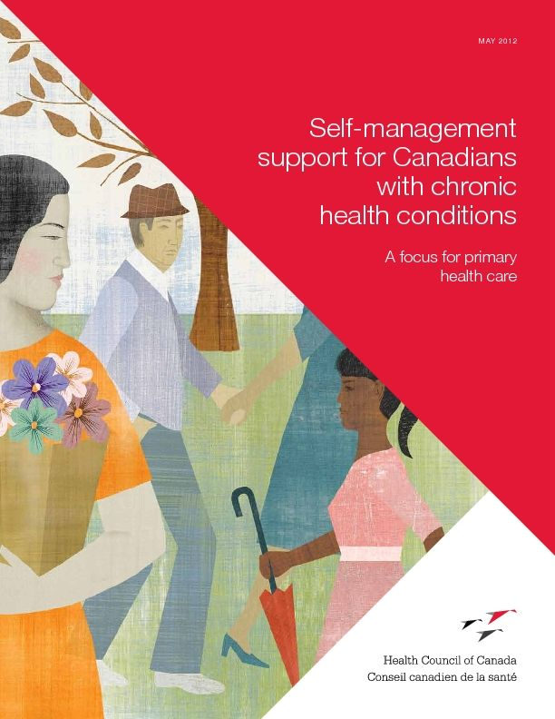 Self-management support for Canadians with chronic health conditions: A focus…