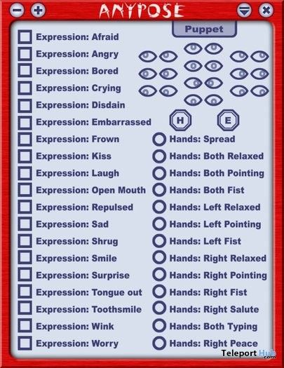 AnyPose Expression HUD by Phate Shepherd Creations