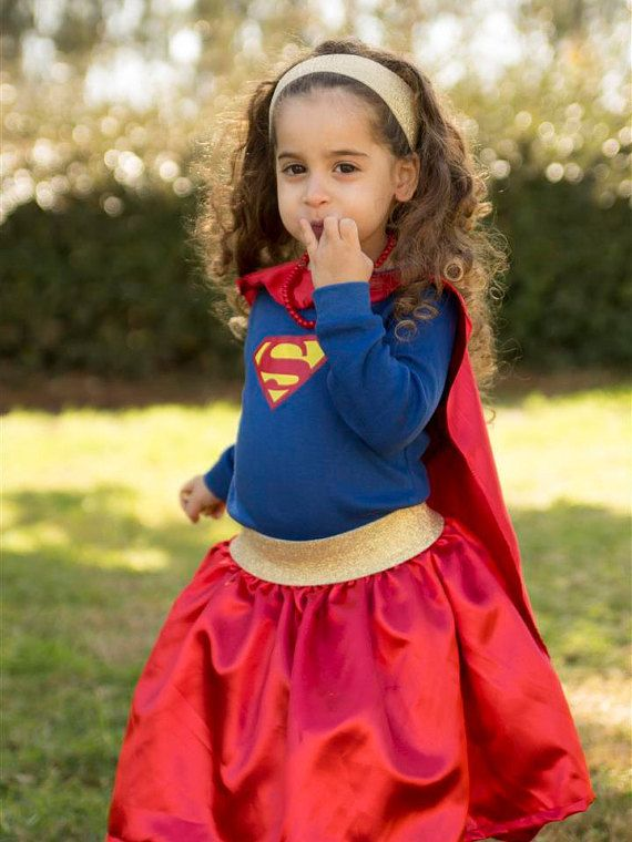 Superwoman costumes Toddlers Superman costumes 3PC toddler girls costume Ready to shipp Halloween children costume.