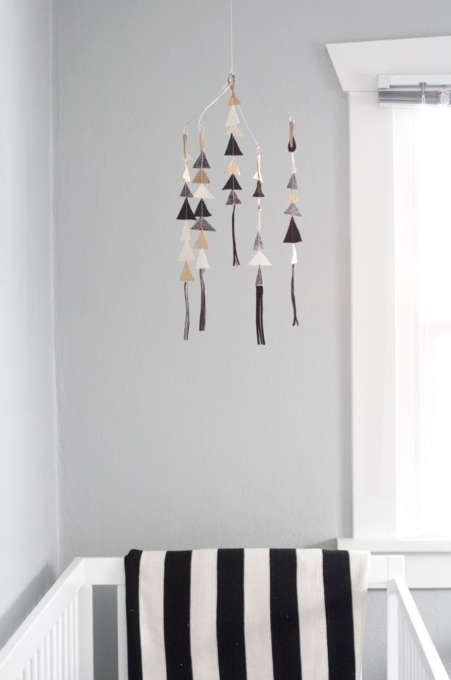 The Leather Triangle Mobile in Gigi *limited edition