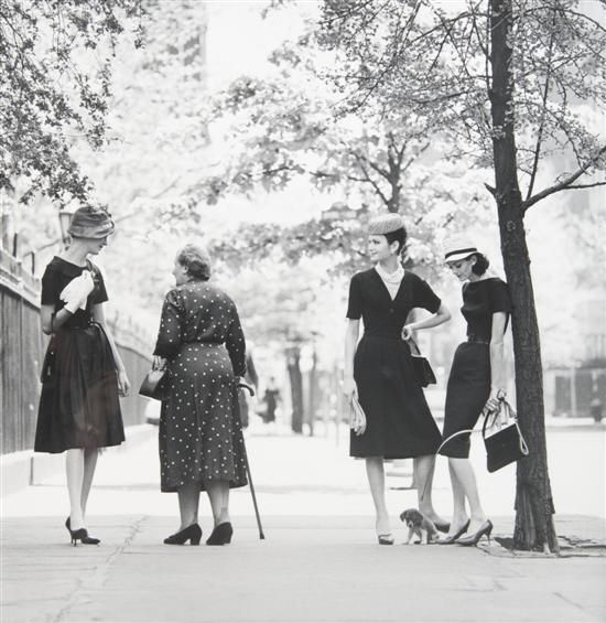 Jerry Schatzberg, Four at Gramercy Park, New York, 1959