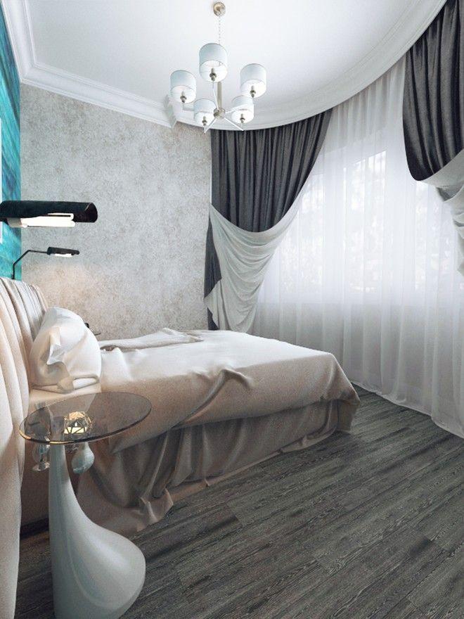 Спальня. Таунхаус в стиле эклектики, ЖК   «Небо», 180 кв.м.