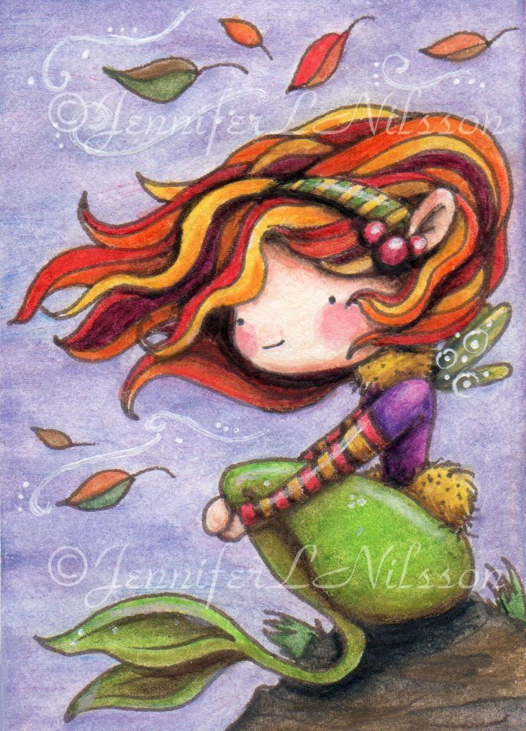 Autumn mermaid