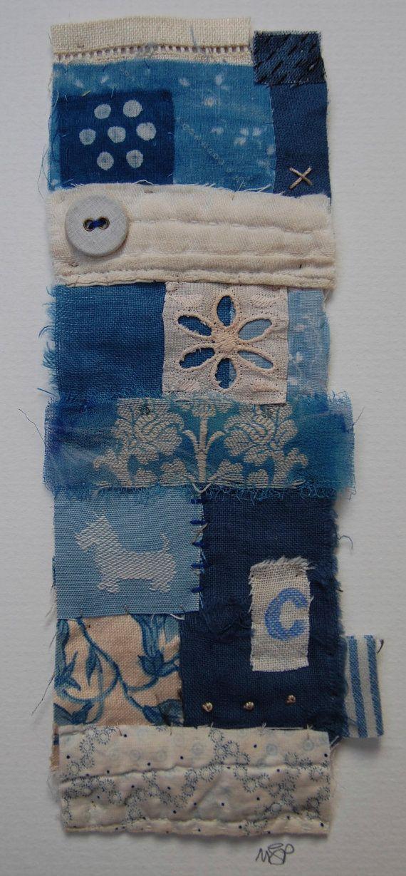Textile Collage Strippy unframed by Mandy Pattullo