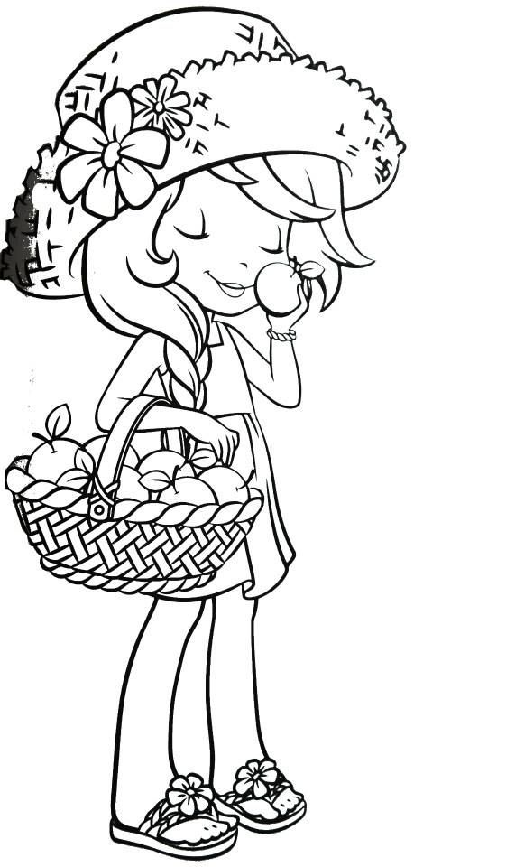 strawberry shortcake raspberry coloring pages - photo#27