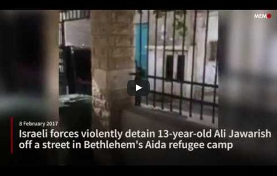 "Bocah 13 tahun ditangkap pemuda Palestina lawan tentara ""Israel"" di kamp pengungsi Aida  PALESTINA (Arrahmah.com) - Pemuda Palestina melakukan perlawanan terhadap tentara ""Israel"" pada Kamis (9/2/2017) sore di kamp pengungsi Aida di distrik Tepi Barat selatan yang diduduki Bethlehem.  Penduduk setempat mengatakan kepada Ma'an bahwa pasukan ""Israel"" menembakkan gas air mata sementara kantor berita Wafa melaporkan bahwa pasukan ""Israel"" juga melepaskan tembakan.  Wafa menambahkan bahwa saksi…"