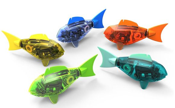 The HEXBUG® Aquabot is the first water-born HEXBUG micro robotic creature with smart fish technology! Powered by electro-magnetic propulsion, this swimming fish propels itself to explore its environment. The coluorful HEXBUG Aquabot offers kids the fun experience of having a pet fish, without all the messy clean-up. Get it: http://www.mastermindtoys.com/Hexbug-Aquabot.aspx