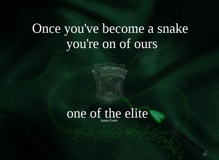 Once you've become a snake…