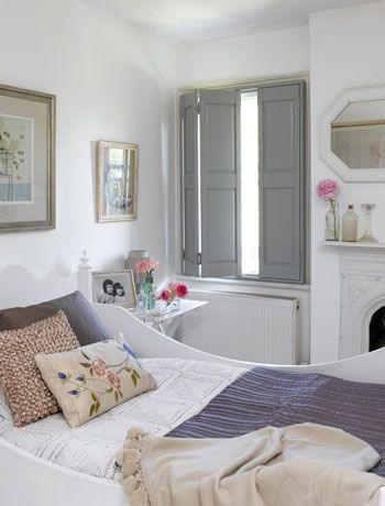 Invest in vintage style bedroom shutters