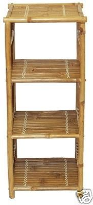 Bamboo Shelf Shelving Unit.  Retail or home display. Great for restaurants, tropical home decor tiki or beach themed decor.  805-479-8454  M-F 9am-5pm PST or eBay user ID: TIKITOESCA or email address:  TikiToesCa@aol.com Thanks! Michele Craft.  Click on the picture to take you to order page.