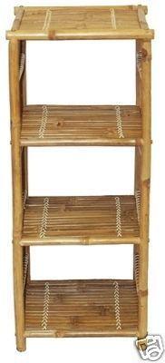 New Bamboo Shelf Shelves End Table Eco Zen Tiki Tiki