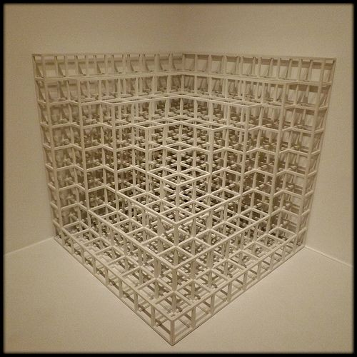 Modular Open Cube Pieces, (9x9x9), Floor Corner 2, Sol LeWitt, American. 1976--Detroit Institute of Arts