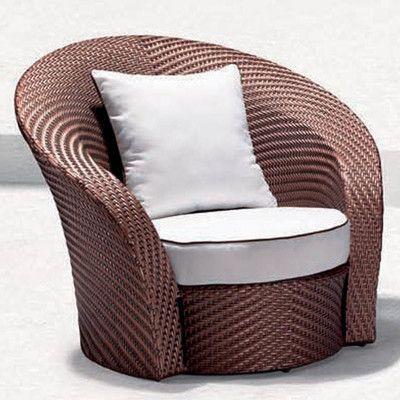 100 Essentials Eclipse Single Sofa with Cushions Fabric: Sunproof Dark Turquoise, Finish: Java Antique