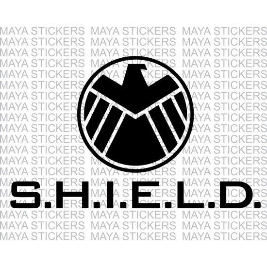 Avengers shield logo sticker for cars, bikes, laptop, helmets