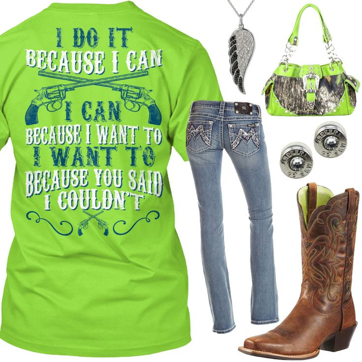 Because I Can Lime Outfit - Real Country Ladies