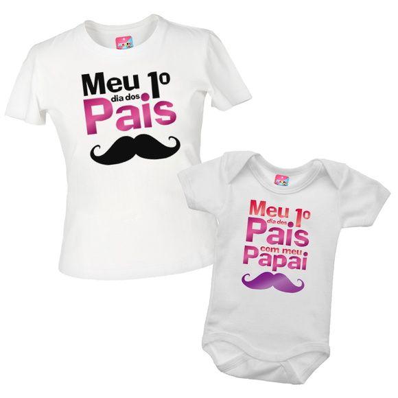 Camiseta Dia Dos Pais Pai E Filha