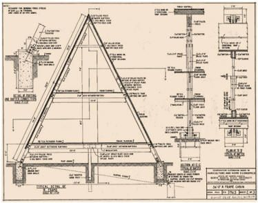30 free cabin plans for DIY...    A-frame cabin drawing #Amazmerizing