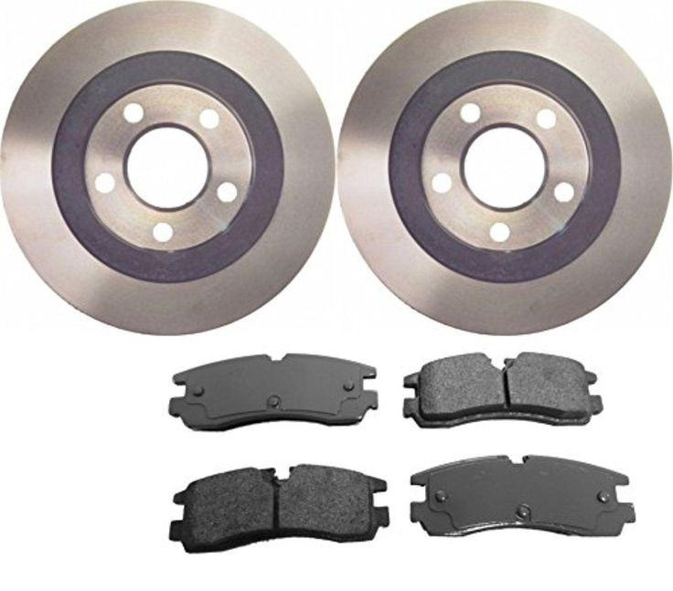 Prime Choice Auto Parts CBO65053754CSE Complete Rear Pair of 2 Rotors and 4 Ceramic Brake Pads Set - Brought to you by Avarsha.com