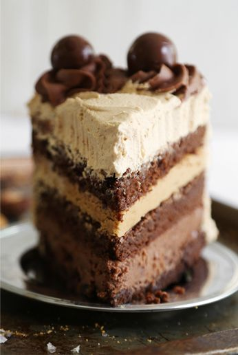 malted nutella and biscoff brownie torte