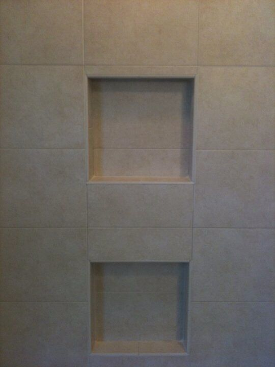 just a couple custom tiled niches for a shower remodel in guilford ct
