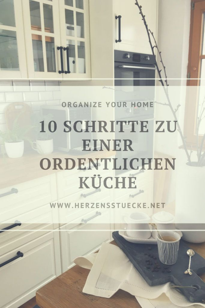Ordnung in der Küche schaffen