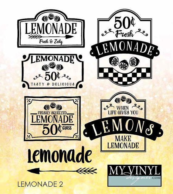 Lemonade SVG Files Lemonade Stand Cuttable SVG by myvinyldesigner
