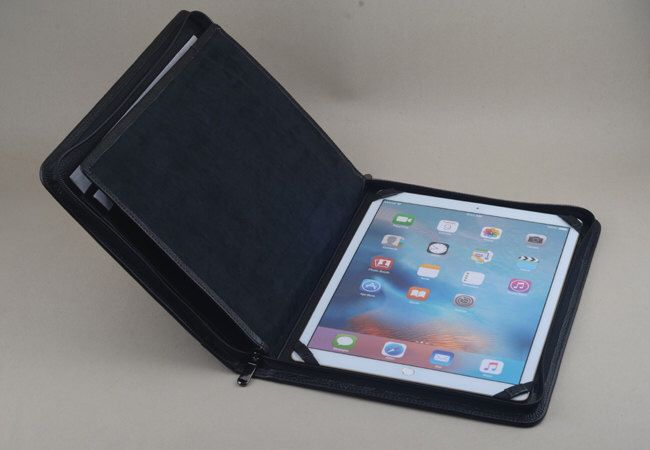 iPad Pro Leather Portfolio Case with A4 size Notepad with Business Carrying Zipper Around for Apple iPad Pro and A4 Paper Writing by leathercase on Etsy https://www.etsy.com/listing/256378415/ipad-pro-leather-portfolio-case-with-a4