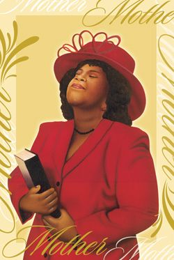 African American Mother's Day Gifts | Lady In Red - African American Mother's Day Card