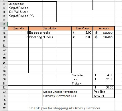 make your own invoices