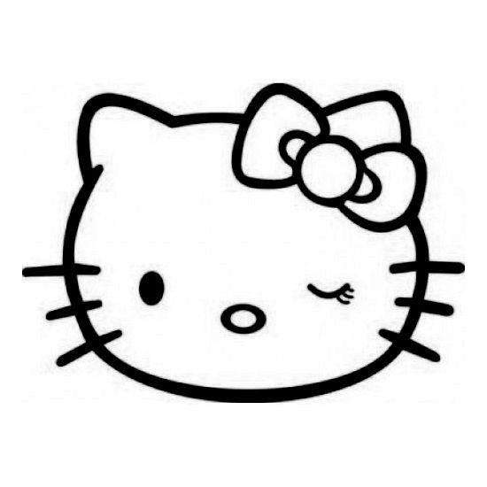 Hello Kitty Winking Laptop Car Truck Vinyl Decal Window Sticker PV183