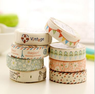 New Vintage Fresh Life series Canvas Tape/DIY Multifunction Decoration stationery Tape / Office & School Supplies WJ0316