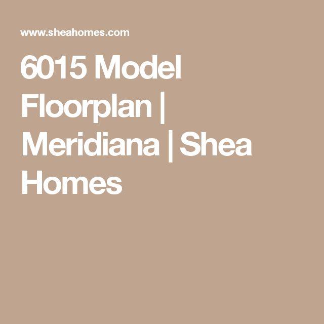 6015 Model Floorplan | Meridiana | Shea Homes