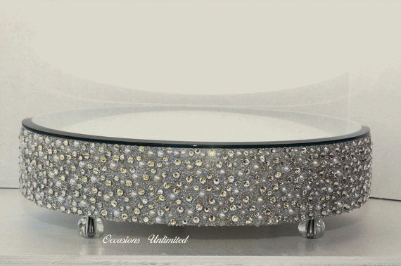 Round cake stand Bling Wedding Cake Stand by OccasionsUnlimited