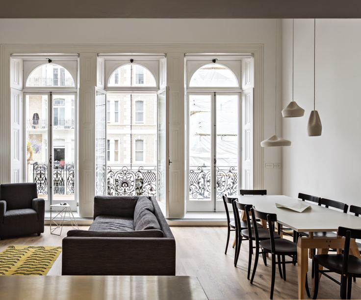 This Chic Central London Flat Was Designed By VW BS Its Minimalist Interior Helps To Expand Limited Space And Large Windows Allow Natural Light T