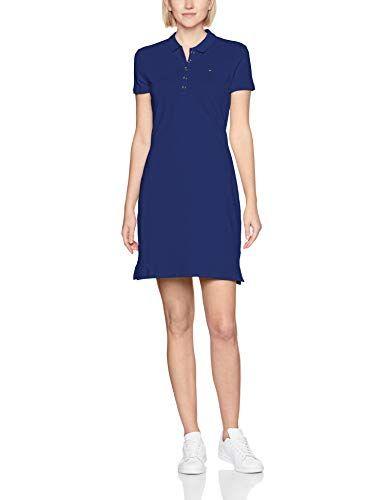 9ddbb0d2c Tommy Hilfiger New Chiara Str Pq Polo Dress SS Vestido para Mujer Azul  (Mazarine Blue