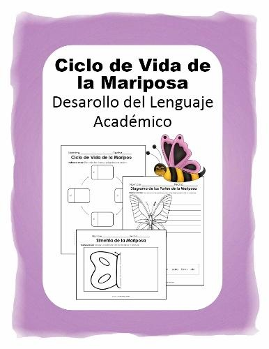 Science Pack - Butterfly Lifecycle in Spanish - Ciclo de Vida de la Mariposa product from NicoleAndEliceo on TeachersNotebook.com
