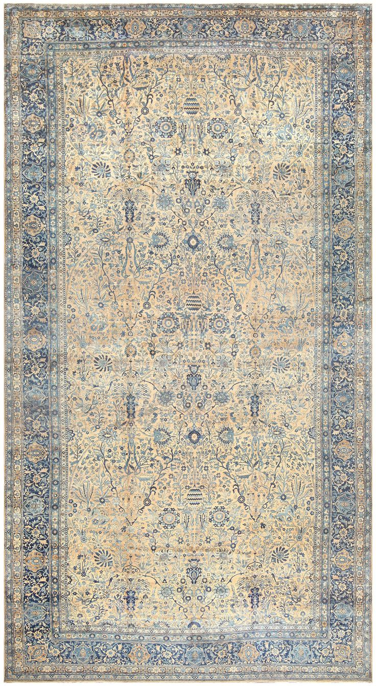 Antique Persian Kerman Carpet, Country of Origin / Rug Type: Persian Rugs, Circa Date: 1900 13 ft 6 in x 25 ft 5 in (4.11 m x 7.75 m)