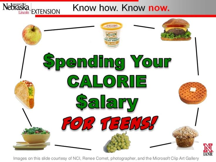 12 best healthy eating for teens images on pinterest healthy spending your calorie salary for teens by amy peterson ms rd and alice henneman ms rd extension educators from the university of nebraska lincoln ccuart Image collections