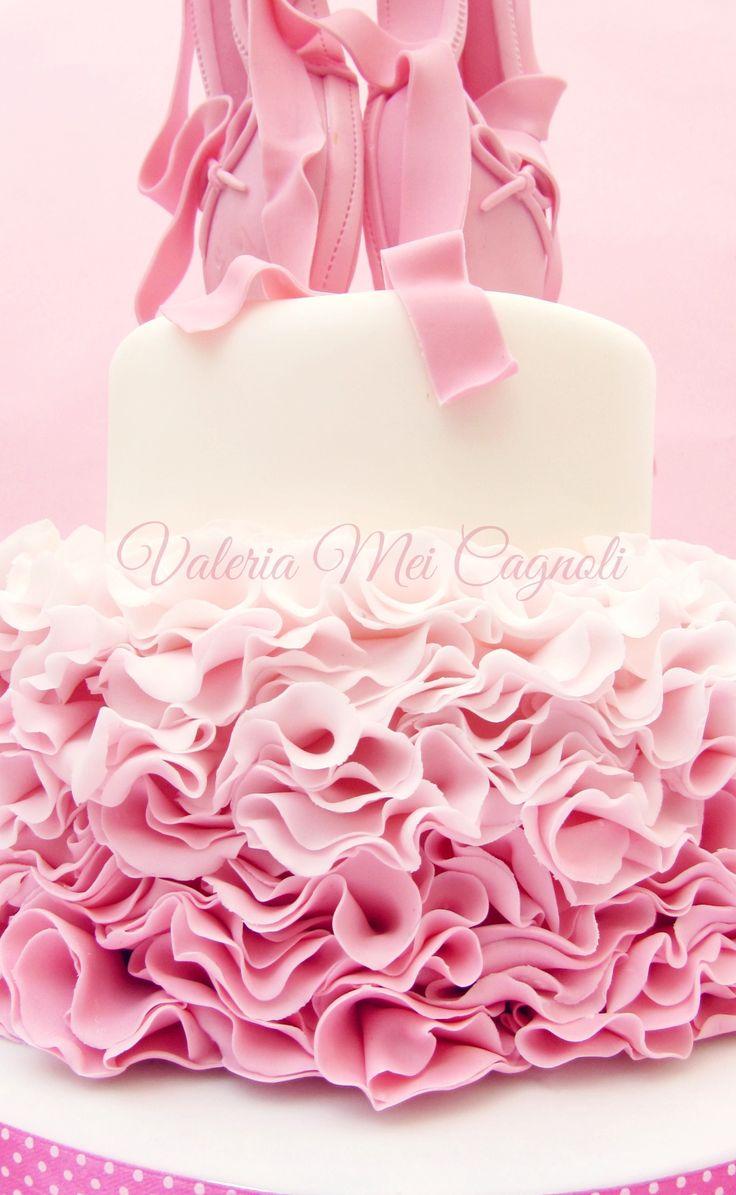Ruffle cake ballerina.