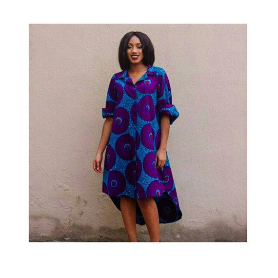 African shirt dress. Ankara shirt dress  This order includes a headwrap.  This dress has a zipper closure in the back. As with all our designs it is fully lined with neat seams. Please refer to our size chart (in images). If you are between sizes you can leave your bust-waist-hip measurements and height in the note to seller box at checkout for a custom fit at no extra charge. Feel free to send us a message about any suggestions or concerns. Thank you.