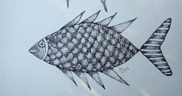 #day16 #fish#fishartwork #fishdrawing #pointillism #pointart #dottedartwork #dottedart #100dayschallenge #100daysartchallenge #100DAYPROJECT #100dayproject2016 #100dayproject #blackandwhite #drawing #draw#sketching #sketch#fins #scales #ashwattasart#tatooart #tatoodrawing #tattoofish#THE100DAYPROJECT#artspiration#art_spotlight #artdiscovered #inkdrawing #dotworkers