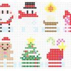 【アイロンビーズ】サンタ!雪の結晶!ナイトメア!ツリー!☆クリスマス図案まとめ☆