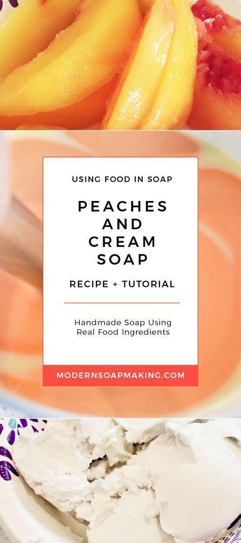 Tutorial: Fresh peaches and cream soap recipe with coconut cream and peach puree   – Crafts